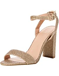 dd7dc735ae1f New Look Women s 5717808 Ankle Strap Heels