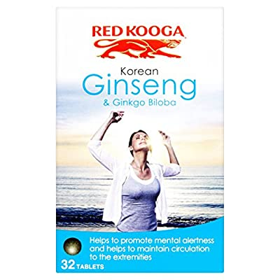 Red Kooga Korean Ginseng and Ginkgo Biloba - Pack of 32 Tablets by UDG LTD