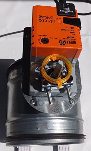Preisvergleich Produktbild Motorklappe Absperrklappe NW150 Stahl verzinkt dichtschließend z.b. Dunstabzug DTBU150
