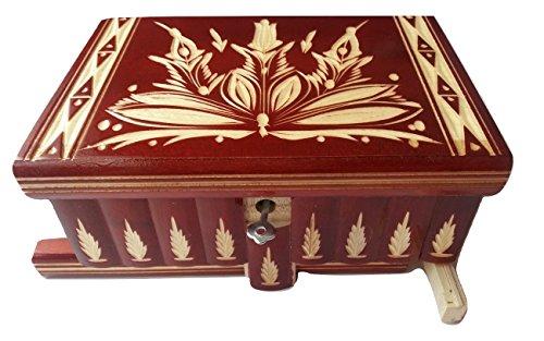 Neu groß riesige Kiste Holz Puzzle Kasten geheimen Rätsel Zauber Schatz Magie Box, Schmuckschatulle Fall handgeschnitzten Holz Aufbewahrungsbox geschnitzten Kasten Holz Spielzeug für Kinder - Kreis Holz-puzzle