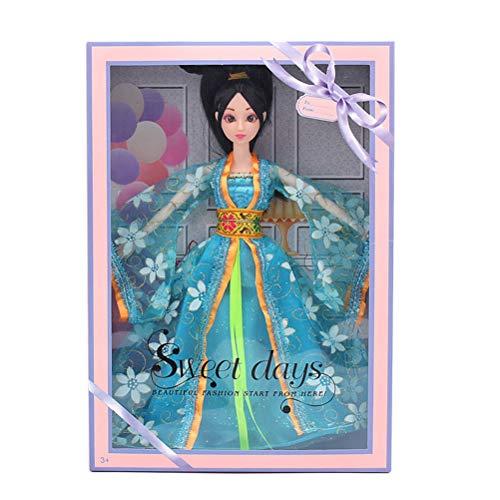 YeahiBaby Chinesische Puppe Schneeflocke Kleidung Puppe Kleid Puppe wunderschöne China Puppe für Mädchen (12 gemeinsame Puppen ()