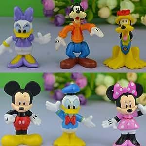Lot de 6 figurines pour gâteaux Club Mickey