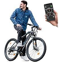 Bluewheel 27,5 Zoll E-Bike Mountainbike mit Smartphone App Steuerung + Bluetooth, BXB75 Elektro-Fahrrad MTB mit 36V Li-Ion Akku + Shimano 21 Gang-Schaltung, Scheibenbremse, LCD Display und Alu Rahmen
