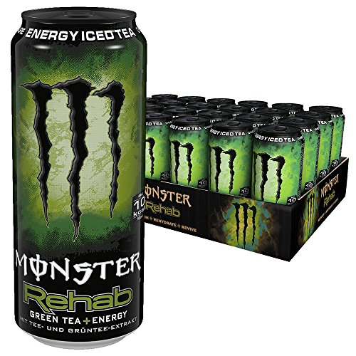 Kaktusfeige Saft (Monster Energy Rehab Green Tea, 24er Pack (24 x 500 ml) Dose)