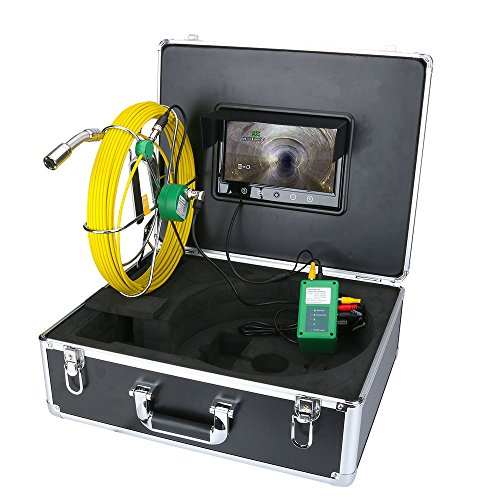 ENNIO Pipe Inspection Video Camera  30M IP68 Waterproof Drain Pipe Sewer Inspection Camera System 9 LCD 1000 TVL Camera with 6W LED Lights
