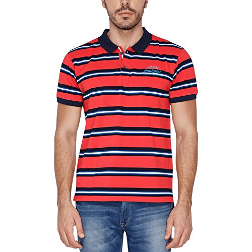 Vettorio Fratini Mens Striped Polo T-shirt  available at amazon for Rs.299