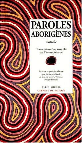 Paroles aborigènes par Thomas Johnson