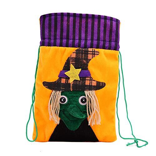 JER 1 PCS-Halloween-Süßigkeits-Beutel-Zugschnur-Kinder Trick-Leckerei-Taschen, Hexe Halloween Spielzeug