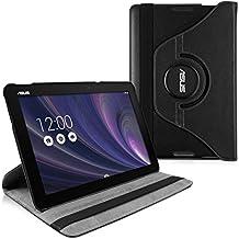 kwmobile Funda para Asus Memo Pad 10 ME103K - Case de 360 grados de cuero sintético para tablet - Smart Cover completo y plegable para tableta en negro