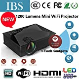IBS HD Movies 100' Inch Multimedia LED LCD Projector Home Cinema Theater Supports - HDMI USB VGA AV SD Card (Just Plug USB & Play HD Movies)