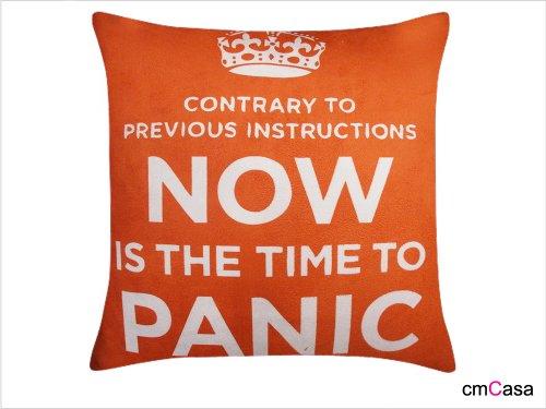 Cmcasa [3493] 45x 45cm in pile di cuscino decorativo caso, è giunto il momento di panico