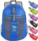 Packable Zaino - Leggero pieghevole Zaino - Usa come borsa da viaggio, Daypack - si ripiega in E 'tasca interna (DeepBlue)