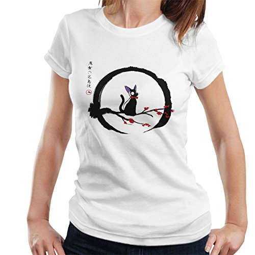 Jiji Under The Moon Studio Ghibli Women's T-Shirt white