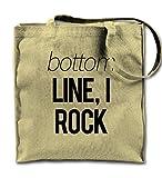 Bottom Line I Rock Komisch Natürliche Leinwand Tote Tragetasche, Tuch Einkaufen Umhängetasche