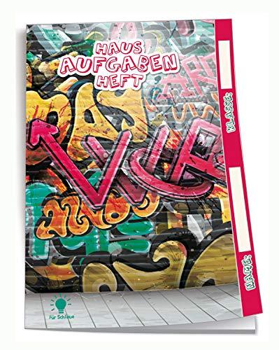 Quaderno per la casa Schlaue Graffiti: A5, 96 pagine, con copertina trasparente extra forte
