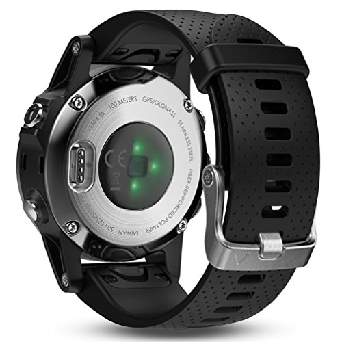 Garmin Fenix 5S Multisport GPS Watch with Outdoor Navigation and Wrist-Based Heart Rate – Silver with Black Band