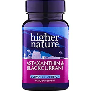 51C07uauzvL. SS300  - Higher Nature Astaxanthine and Blackcurrant Capsules Pack of 30