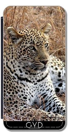 Leder Flip Case Tasche Hülle für Samsung Galaxy S8 Plus (SM-G955) - Leopardkatze Tiger Und Löwe by WonderfulDreamPicture