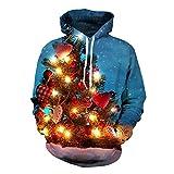 Weihnachtsbaum-Kapuzenpulli