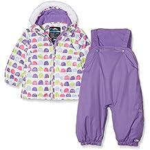 Trespass Tuta da sci per bambini, imbottita, Bambino, Squeezy, Multi Print, Size 18/Size 24