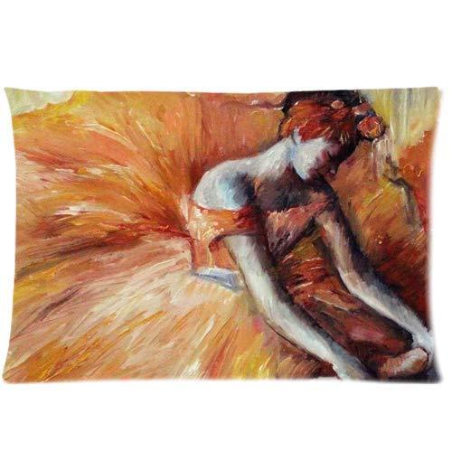 fujianshen Ballerina Painting Custom Zippered Pillow Cases Soft and Confortable 20