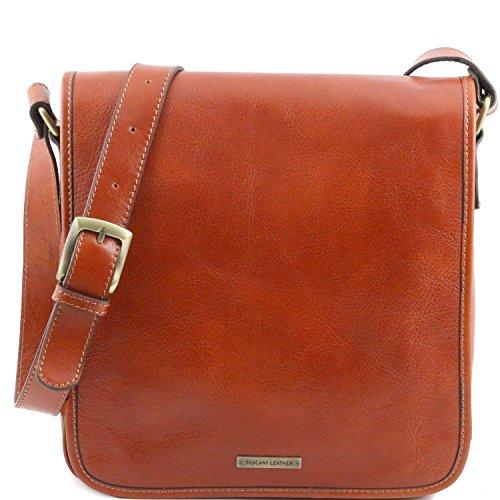 Tuscany Leather - TL Messenger - Borsa a tracolla 1 scomparto Miele - TL141260/3 Miele