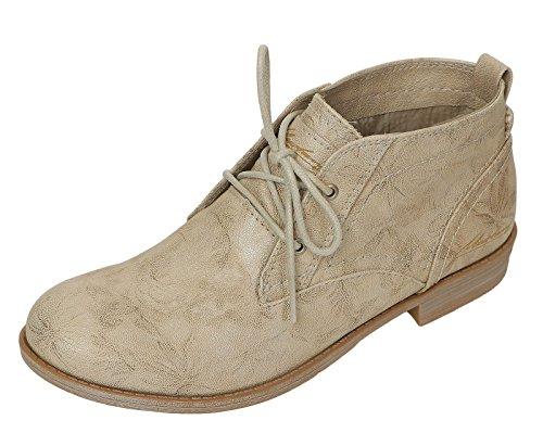 Mustang Damen Sommer Schuhe Stiefeletten Schnür 1157554 bgYyfvI67