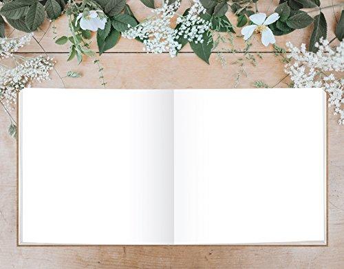 Sophies Kartenwelt Gästebuch Hochzeit - Goldfoliengeprägtes Hardcover / 144 weiße Seiten/Format: 21 x 21 cm/Hochzeitsgästebuch/Hochzeitsalbum/Hochzeitsgeschenk - 5