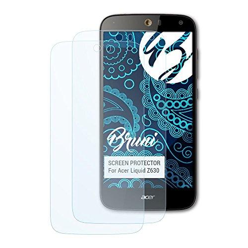 Bruni Schutzfolie für Acer Liquid Z630 Folie, glasklare Displayschutzfolie (2X)