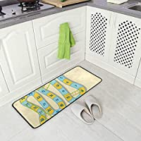 Mnsruu Kitchen Mats Snake Ladder Game Bathroom Rugs Laundry Room Rug Kitchen Rug Soft Non-Slip Water Resistant