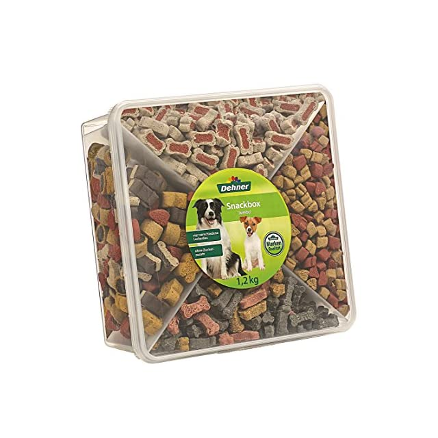 Dehner Friandises pour Chien, Snackbox Jumbo, mélange de 4Sortes différentes, 1,2kg