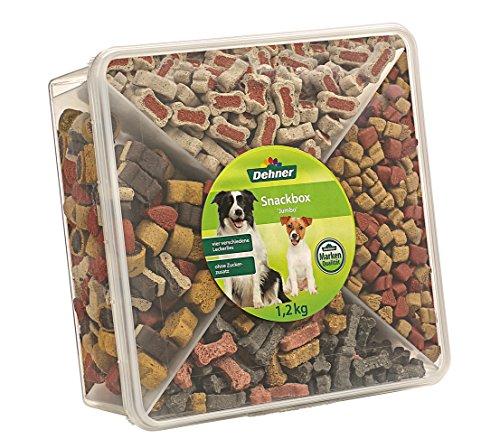 Dehner Snackbox Jumbo - Caja de Aperitivos para Perro, 4 Tipos de...