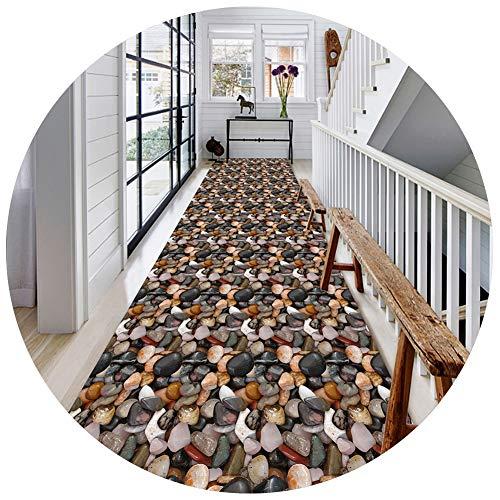 ZENGAI-Läufer Teppich Flur Läufer Teppich Flur Zeitgemäß Anpassbar Verblassen Sie Beständig 3D Bild Kopfsteinpflaster Gang Küche Teppiche Einfach Zu Säubern (Color : B, Size : 0.8x2m)