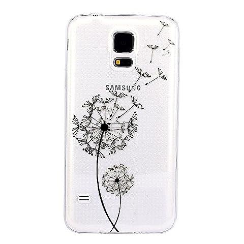 JIAXIUFEN TPU Coque - pour Samsung Galaxy S5 Mini Silicone Étui Housse Protecteur - Dandelion