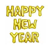 #7: Satyam Kraft Happy New year Alphabet Letter Foil Balloons- Gold, New year Party Supplies , new year Balloons for Party Decorations (Happy New Year)