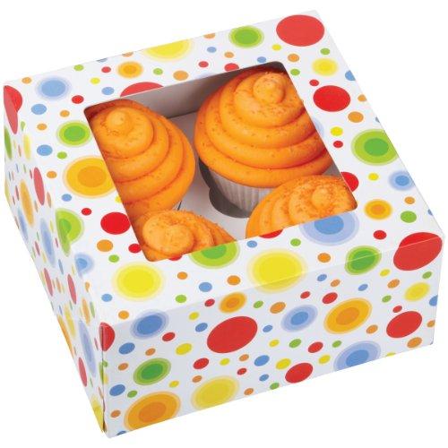 Wilton - Caja para 4 Cupcakes 3 Unidades
