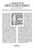 Der Städtebau nach seinen künstlerischen Grundsätzen.