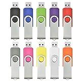 AreTop 10 stück 8GB Rotate Metall USB-Stick Mehrfarbig high speed USB 2.0 ( Mehrfarbig)