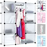 TecTake Steckregal Badregal Kleiderschrank Kinderregal Garderobe Schrank Regal schwarz (Transparent)