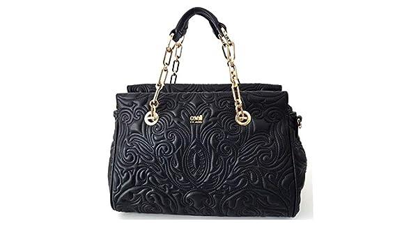 Cavalli Class Medium Handbag Blossom CRC004 Black  Amazon.it  Scarpe e borse ccee86d5bab