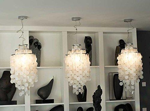NEUERRAUM Schicke Muschel Perlmutt Hängelampe Deckenlampe Lounge Lampe. Die Gesamthöhe ist über...