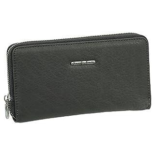 Luxus Leder Damen Geldbörse Portemonnaie Geldbeutel Langbörse XXL 18 Kartenfächer Farbe grau inkl. Ledershop24 Schlüsselanhänger