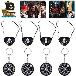 Accesorios de pirata para fiesta, 12 ud.
