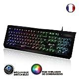 ⭐️KLIM Domination - ITALY - Mechanische RGB-QWERTZ-Tastatur - Neue 2018 Version - Blaue Tasten - Schneller, präziser, angenehmer Tastenanschlag - 5 Jahre Garantie - VOLLSTÄNDIGE FREIHEIT BEI DER FARBAUSWAHL PC PS4
