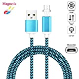 Superior Magnetic Micro USB Cable ZRL® Nylon Litzen 2.4 EIN Micro Rapid Ladegerät USB Kabel Adapter LED Anzeige schnell Sync Datenkabel für Samsung HTC LG Xiaomi Android Geräte und mehr