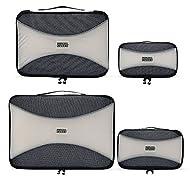 PRO Packing Cubes   Juego económico de 4 organizadores de viaje   Bolsos ahorradores del 30 % de espacio   Organizadores ultraligeros de equipaje   Ideales para bolsos de viaje, maletas y mochilas