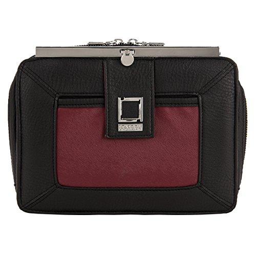 Lencca Esvivina Borsa a tracolla borsa delle donne Hobo Messenger Crossbody (Nero / Vino) Nero / Vino