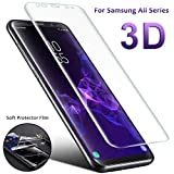 Huhuswwbin Pellicola Protettiva, Morbida/a Copertura Totale/Anti-graffio/Anti-frantumazione/Premium HD Pellicola per Samsung Galaxy Note9 S9 S8 - per Samsung Galaxy S8