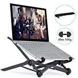 ELUTENG Laptop Stand Support 12-17Inch Notebook Folding Laptop Cooling Holder Adjustable Laptop Tray 3-Level Height for MacBook/Air/Pro/iPad Pro