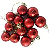 Fizzytech Christmas Decoration Hanging Red Balls Small- Pack Of 24